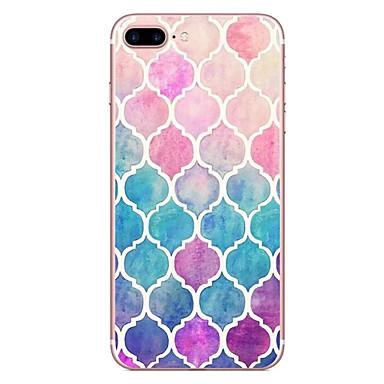 Voor iPhone X iPhone 8 Hoesje cover Patroon Achterkantje hoesje Geometrisch patroon Zacht TPU voor Apple iPhone X iPhone 7s Plus iPhone 8