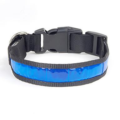 Câine Gulere Impermeabil Reflexiv Portabil Ajustabile Mată Nailon Alb Galben Rosu Albastru