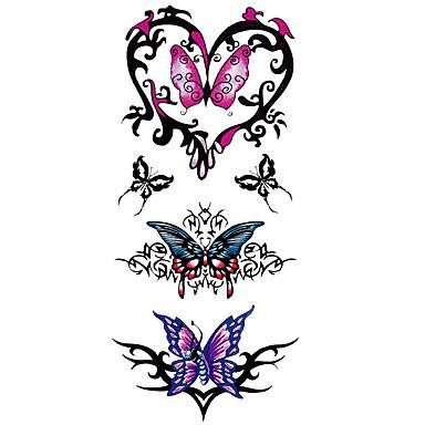 Tattoo Aufkleber Tier Serie Totem Serie Muster Unterer Rückenbereich WaterproofDamen Herren Teen Flash-Tattoo Temporary Tattoos
