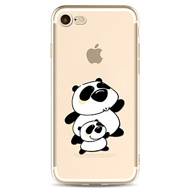 Hülle Für Apple Transparent Muster Rückseitenabdeckung Cartoon Design Panda Weich TPU für iPhone 7 plus iPhone 7 iPhone 6s Plus iPhone 6