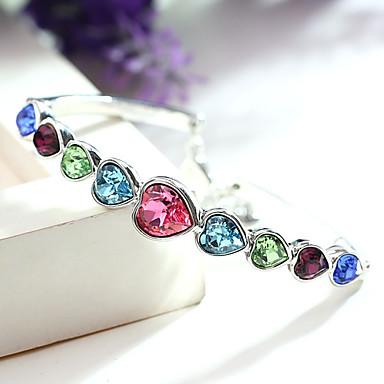 Dames Armbanden met ketting en sluiting Sieraden Vintage Natuur Modieus Met de Hand Gemaakt Kristal Legering Hartvorm Sieraden Voor
