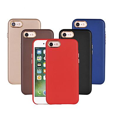 Hülle Für Apple iPhone 7 Plus iPhone 7 Stoßresistent Beschichtung Rückseite Volltonfarbe Hart PU-Leder für iPhone 7 Plus iPhone 7 iPhone