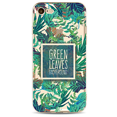 hoesje Voor Apple Transparant Patroon Achterkantje Boom Zacht TPU voor iPhone 7 Plus iPhone 7 iPhone 6s Plus iPhone 6 Plus iPhone 6s