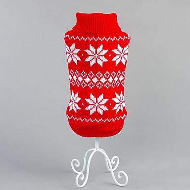 Hund Pullover Hundekleidung Lässig/Alltäglich Blumen/Pflanzen Rot Blau Kostüm Für Haustiere