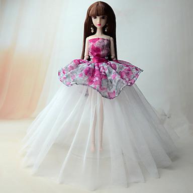 Prinzessin Kleid Für Barbie-Puppe Spitze Organza Kleid Für Mädchen Puppe Spielzeug