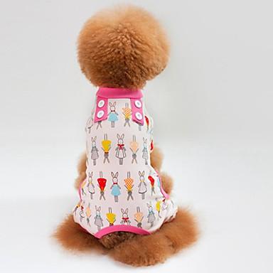 Kat Hond T-shirt Sweatshirt Jumpsuits Pyjama Broeken Hondenkleding Casual/Dagelijks Konijn Groen Blauw Roze