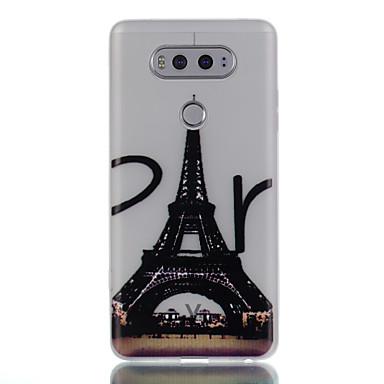 hoesje Voor LG Glow in the dark Patroon Achterkantje Eiffeltoren Zacht TPU voor LG K10 LG K8 LG K7 LG K5 LG G5 LG G6 LG V20 LG X Screen