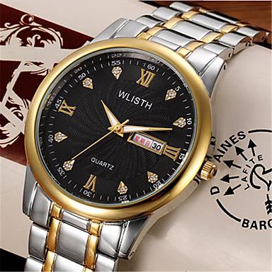 Bărbați Ceas de Mână Ceas La Modă Quartz Aliaj Bandă Casual Argint Auriu