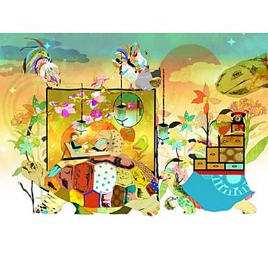 Puzzle Pătrat Noutate Războinic De lemn Lemn Desen animat Unisex Cadou