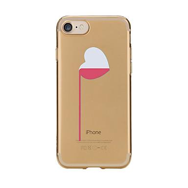 Hülle Für Apple iPhone 7 Plus iPhone 7 Transparent Muster Rückseite Herz Weich TPU für iPhone 7 Plus iPhone 7 iPhone 6s Plus iPhone 6s