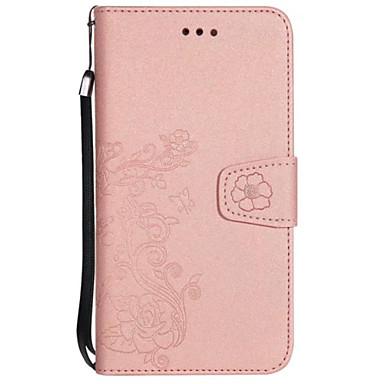 Hülle Für Samsung Galaxy S8 Plus S8 Kreditkartenfächer Geldbeutel mit Halterung Flipbare Hülle Geprägt Ganzkörper-Gehäuse Blume Hart