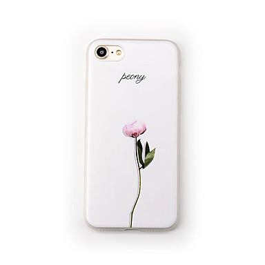 Hülle Für Apple iPhone 7 Plus iPhone 7 Mattiert Muster Rückseite Blume Weich TPU für iPhone 7 Plus iPhone 7 iPhone 6s Plus iPhone 6s