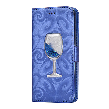 hoesje Voor Samsung Galaxy S8 Plus S8 Portemonnee Kaarthouder met standaard Stromende vloeistof Flip Magnetisch Volledige behuizing Effen