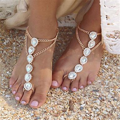 Damen Fusskettchen/Armbänder Künstliche Perle Strass Aleación Modisch Tropfen Schmuck Für Alltag Normal 1 Stücke