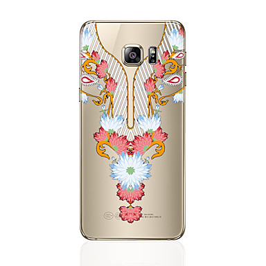 hoesje Voor Samsung Galaxy S8 Plus S8 Transparant Patroon Achterkant Lace Printing Zacht TPU voor S8 Plus S8 S7 edge S7 S6 edge plus S6
