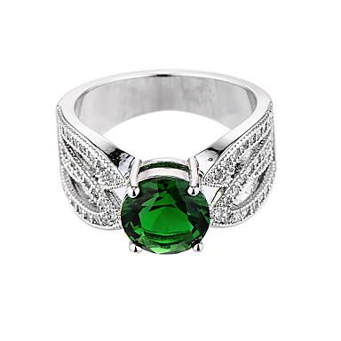للمرأة خاتم الاصطناعية الزمرد تصميم فريد موضة euramerican في زركون زمردي سبيكة مجوهرات مجوهرات من أجل زفاف مناسبة خاصة الذكرى السنوية