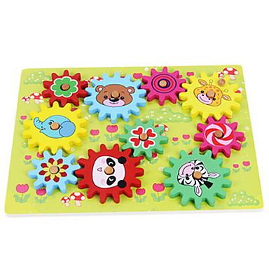 Bausteine Bildungsspielsachen Spielzeuge Quadratisch Tiere Holz Kinder Stücke
