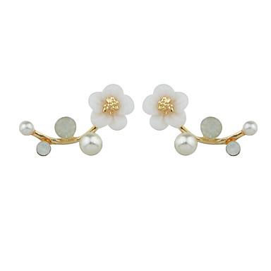أقراط قطرة تصميم فريد الطبيعة سبيكة Flower Shape مجوهرات إلى يوميا فضفاض 1 زوج