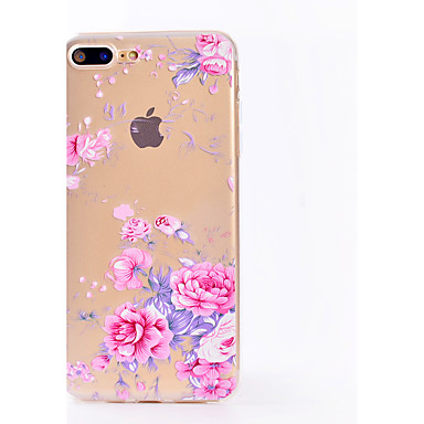 Maska Pentru Apple iPhone X iPhone 8 Transparent Model Capac Spate Floare Moale TPU pentru iPhone X iPhone 8 Plus iPhone 8 iPhone 7 Plus