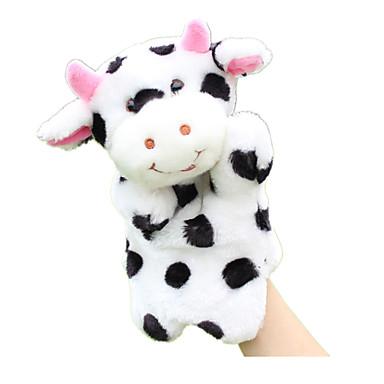 لعبة للأصبع دمى عرائس ألعاب Cow جذاب الحيوانات محبوب قماش قطيفة قطيفة طفل قطع