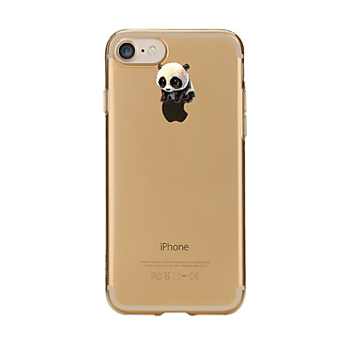 غطاء من أجل Apple iPhone 7 Plus iPhone 7 شفاف نموذج غطاء خلفي باندا كارتون ناعم TPU إلى iPhone 7 Plus iPhone 7 iPhone 6s Plus ايفون 6s