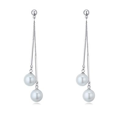 Pentru femei Cercei Picătură Imitație de Perle La modă Euramerican costum de bijuterii Cooper Round Shape Bijuterii Pentru Nuntă
