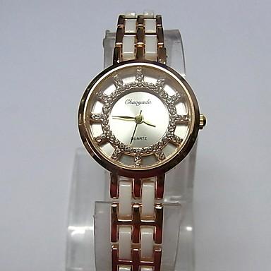 Dames Modieus horloge Armbandhorloge Kwarts Legering Band Glitter Vrijetijdsschoenen Wit Goud Rose