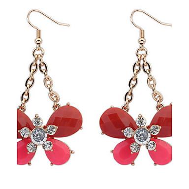 Dames Oorknopjes Druppel oorbellen Ring oorbellen Synthetische Diamant Gepersonaliseerde Bloemen Religieuze sieraden Luxe Uniek ontwerp