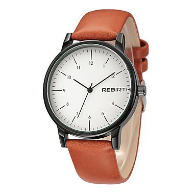 זול שעוני גברים-REBIRTH בגדי ריקוד גברים שעון יד קווארץ מתכת אל חלד שחור עמיד במים מגניב אנלוגי קלסי אופנתי אריסטו - שחור / כתום כתום /  לבן שחור / לבן