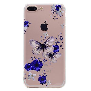 Für iphone 7 plus 7 Telefonkasten-Schmetterling und Blumenmuster weiches tpu Materialtelefonkasten 6s plus 6 plus 6s 6 se 5s 5