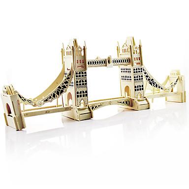 3D-puzzels Hout Model Speeltjes Architectuur Hout Unisex Stuks