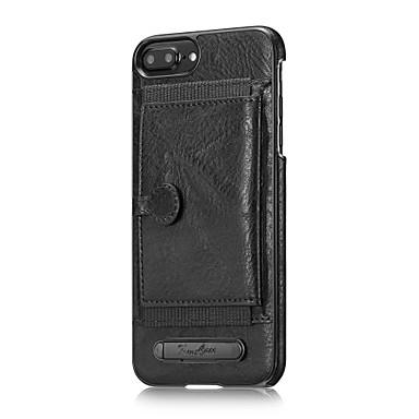 Voor apple iphone 7 plus 7 case cover kaarthouder met achterkant behuizing solid color hard echt leer voor iphone 6s plus 6 plus 6 6s