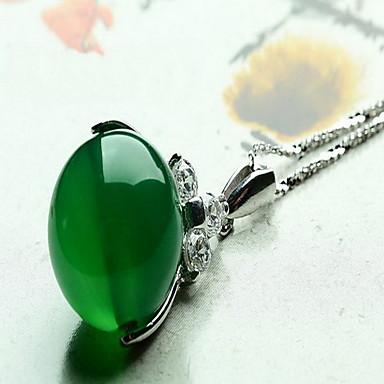 Pentru femei Coliere cu Pandativ Sintetic Emerald Bijuterii Smarald Aliaj Modă Euramerican stil minimalist Bijuterii Pentru Nuntă