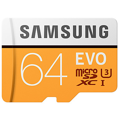 SAMSUNG 64GB بطاقة مايكرو SD بطاقة TF شريحة ذاكرة UHS-I U3 CLASS10 EVO