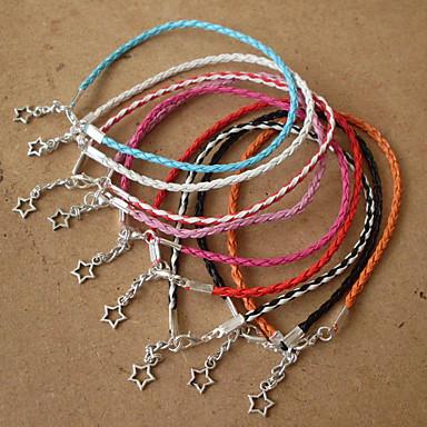 للمرأة أساور من الجلد مجوهرات بوهيميان مصنوع يدوي جلد سبيكة نجمة مجوهرات لباس يومي الرياضة مجوهرات