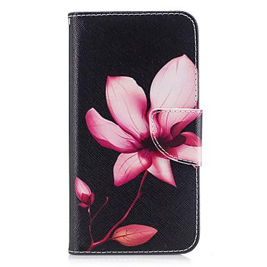 Maska Pentru Huawei P9 Huawei P9 Lite Huawei Titluar Card Portofel Cu Stand Întoarce Magnetic Model Carcasă Telefon Floare Greu PU piele