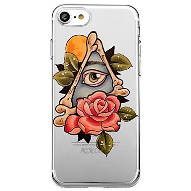 Voor iphone 7 plus 7 case cover milieuvriendelijke transparante patroon bloem achterkant hoesje sexy dame cartoon bloem zachte tpu voor