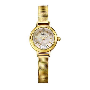 Dames Modieus horloge Kwarts Waterbestendig Legering Band Zwart Zilver Goud Goud Rose