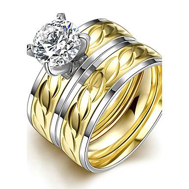 Dames Bandringen Ring Verlovingsring Modieus Eenvoudige Stijl Bruids Titanium Staal Rond Sieraden Kerstcadeaus Bruiloft Feest Speciale