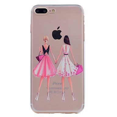Voor apple iphone 7 7 plus 6s 6 plus 5s 5 case cover droom meisje serie geschilderd hoge penetratie tpu materiaal zachte case telefoon