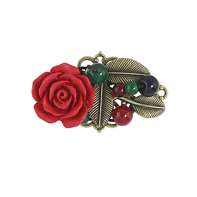 Women's Brooches - Flower Brooch Red For Casual