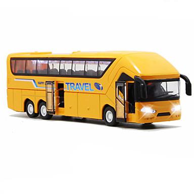 Speelgoedauto's Terugtrekvoertuigen Bus Speeltjes Simulatie Bus Metaallegering Metaal Stuks Unisex Geschenk