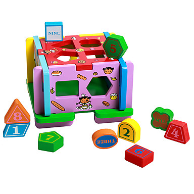 Casă Jucării Pegged puzzle-uri Jucarii Distracție Lemn natural Pentru copii Unisex Bucăți