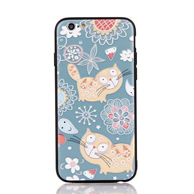 Für Apfel iphone 7 7 plus iphone 6s 6 plus Fallabdeckung das Katzemuster 3d Entlastungplastikrückseitenoberteil tpu Rahmenfälle