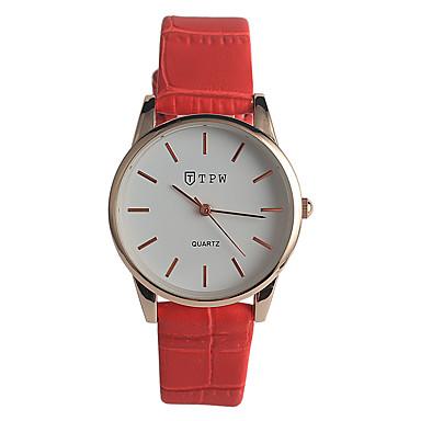 Dames Modieus horloge Kwarts / Echt leer Band Informeel Rood Marineblauw