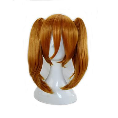 للنساء الاصطناعية الباروكات دون غطاء متوسط سابل برتقالي شعر جديلة الحصان شعر مستعار كوسبلاي زي الباروكات