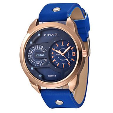 Heren Sporthorloge Modieus horloge Kwarts Leer Band Blauw