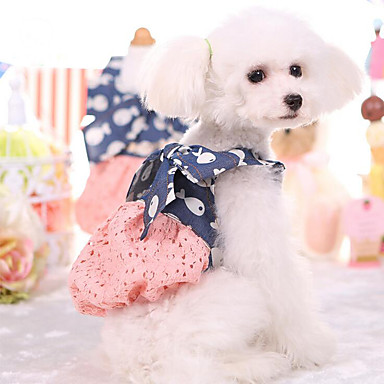 Jurken Gilet Hondenkleding Ademend Stijlvol Schattig Casual/Dagelijks Zoet Prinses Dierenprint Wit Roze Kostuum Voor huisdieren