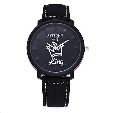 Heren Modieus horloge Polshorloge Vrijetijdshorloge Kwarts Leer Band Informeel Zwart Bruin
