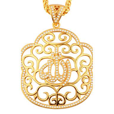 Dame Pandative Zirconiu Cubic Geometric Shape Floare Auriu Articole de ceramică Γεωμετρικά Stil Atârnat Bijuterii Pentru Petrecere Zilnic